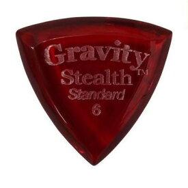 【ポイント5倍】【メール便・送料無料・代引不可】GRAVITY GUITAR PICKS GSSS6P Stealth -Standard- [6.0mm/Red] アクリル ピック【smtb-TK】