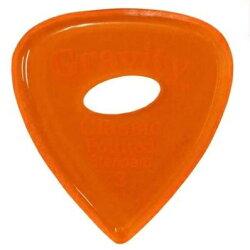 【メール便・送料無料・代引不可】GRAVITYGUITARPICKSGCPS3PEClassicPointed-Standard-[3.0mmwithElipseGripHole/Orange]アクリルピック【smtb-TK】