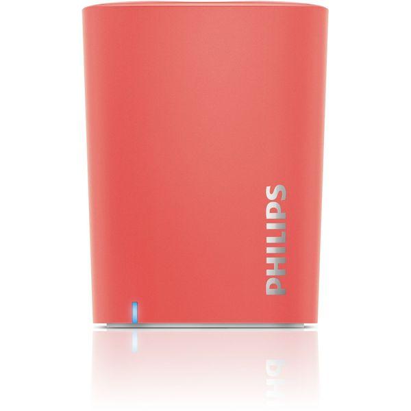 【送料込】PHILIPS BT100M(ピンク) Bluetooth ワイヤレス・ポータブル・スピーカー【smtb-TK】