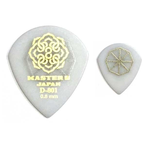 【〜5/30(水)エントリー&楽天カード決済でP最大9倍!!】【ポイント5倍】【メール便・送料無料・代引不可】【10枚セット】MASTER8 JAPAN D-801 ポリアセタール JAZZ III 0.8mm HARD GRIP 滑り止め加工 ギター ピック [D801S-JZ080]【smtb-TK】