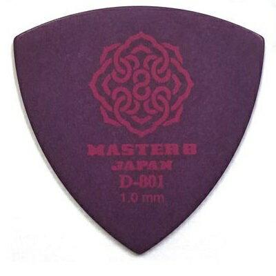 【ポイント5倍】【メール便・送料無料・代引不可】【10枚セット】MASTER8 JAPAN D-801 ポリアセタール 三角 1.0mm ギターピック [D801-TR100]【smtb-TK】