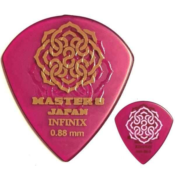 【ポイント5倍】【メール便・送料無料・代引不可】【10枚セット】MASTER8 JAPAN INFINIX HARD POLISH JAZZ III XL 0.88mm RUBBER GRIP 滑り止め加工 ギターピック [IFHPR-JZ088]【smtb-TK】