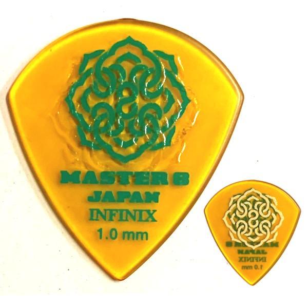 【〜5/30(水)エントリー&楽天カード決済でP最大9倍!!】【ポイント5倍】【メール便・送料無料・代引不可】【10枚セット】MASTER8 JAPAN INFINIX HARD POLISH JAZZ III XL 1.0mm RUBBER GRIP 滑り止め加工 ギターピック [IFHPR-JZ100]【smtb-TK】