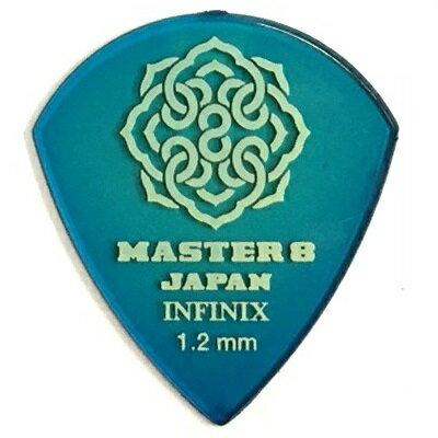 【ポイント5倍】【メール便・送料無料・代引不可】【10枚セット】MASTER8 JAPAN INFINIX JAZZ III XL 1.2mm ギター ピック [IF-JZ120]【smtb-TK】