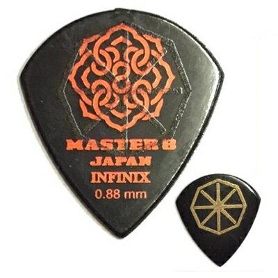 【ポイント5倍】【メール便・送料無料・代引不可】【10枚セット】MASTER8 JAPAN INFINIX JAZZ III XL 0.88mm HARD GRIP 滑り止め加工 ギター ピック [IFS-JZ088]【smtb-TK】