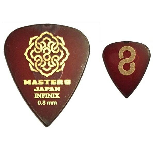 【ポイント5倍】【メール便・送料無料・代引不可】【10枚セット】MASTER8 JAPAN INFINIX ティアドロップ 0.8mm HARD GRIP 滑り止め加工 ギター ピック [IFS-TD080]【smtb-TK】
