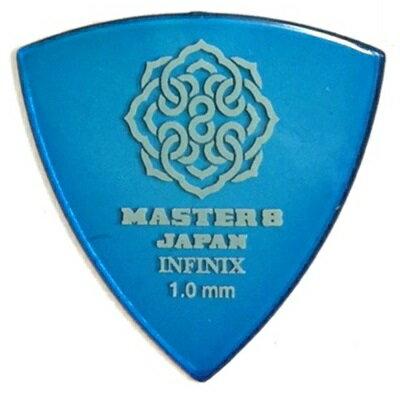 【ポイント5倍】【メール便・送料無料・代引不可】【10枚セット】MASTER8 JAPAN INFINIX 三角 1.0mm ギター ピック [IF-TR100]【smtb-TK】