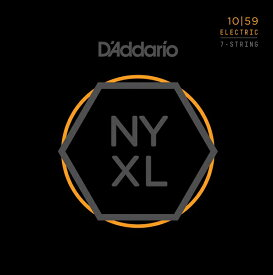 【メール便・送料無料・代引不可】【1セット】D'Addario/ダダリオ NYXL1059 7弦ギター用 Regular Light[10-59]【smtb-TK】