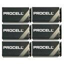 【メール便・送料無料・代引不可】【9V乾電池×6個】【限定特価】DURACELL PROCELL 9V 006P×6個 世界の電池シェアNo.…