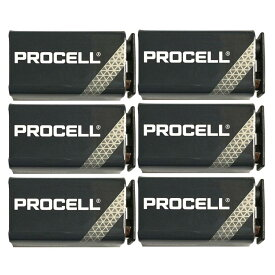 【メール便・送料無料・代引不可】【9V乾電池×6個】【限定特価】DURACELL PROCELL 9V 006P×6個 世界の電池シェアNo.1の「デュラセル」社製【smtb-TK】