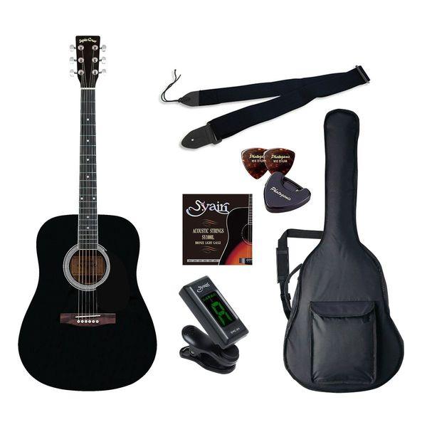 【送料込】【初心者入門6点セット】Sepia Crue セピアクルー WG-10/BK アコースティックギター ライトセット【smtb-TK】