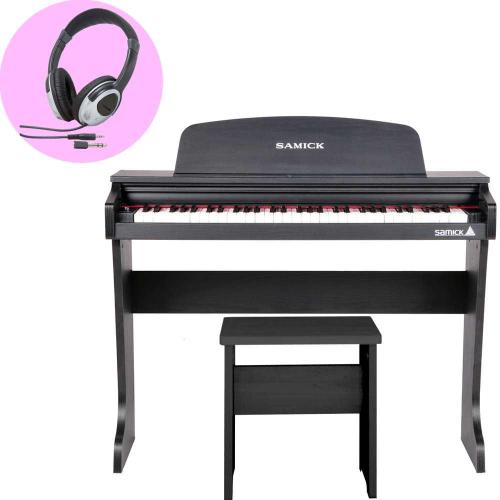 【送料込】【ヘッドホン付】SAMICK サミック 61KID-O2 ブラック 黒 ミニ デジタルピアノ 61鍵盤 子供用 電子ピアノ 【smtb-TK】
