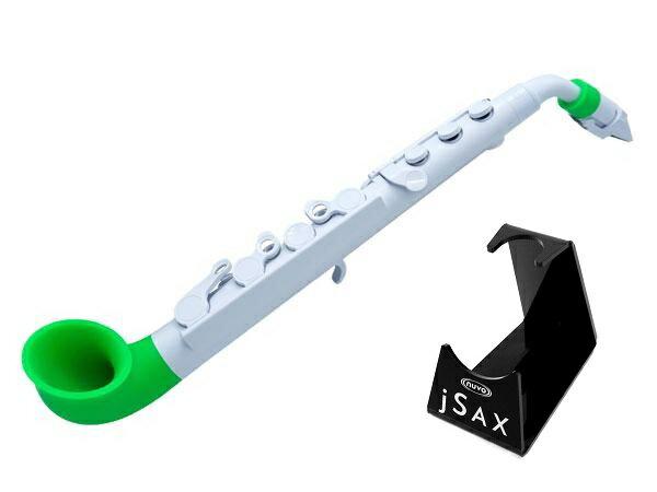 【ポイント6倍】【専用スタンドプレゼント!!】【送料込】NUVO ヌーボ jSAX ホワイト/グリーン N510JWGN プラスチック製 サックス【smtb-TK】