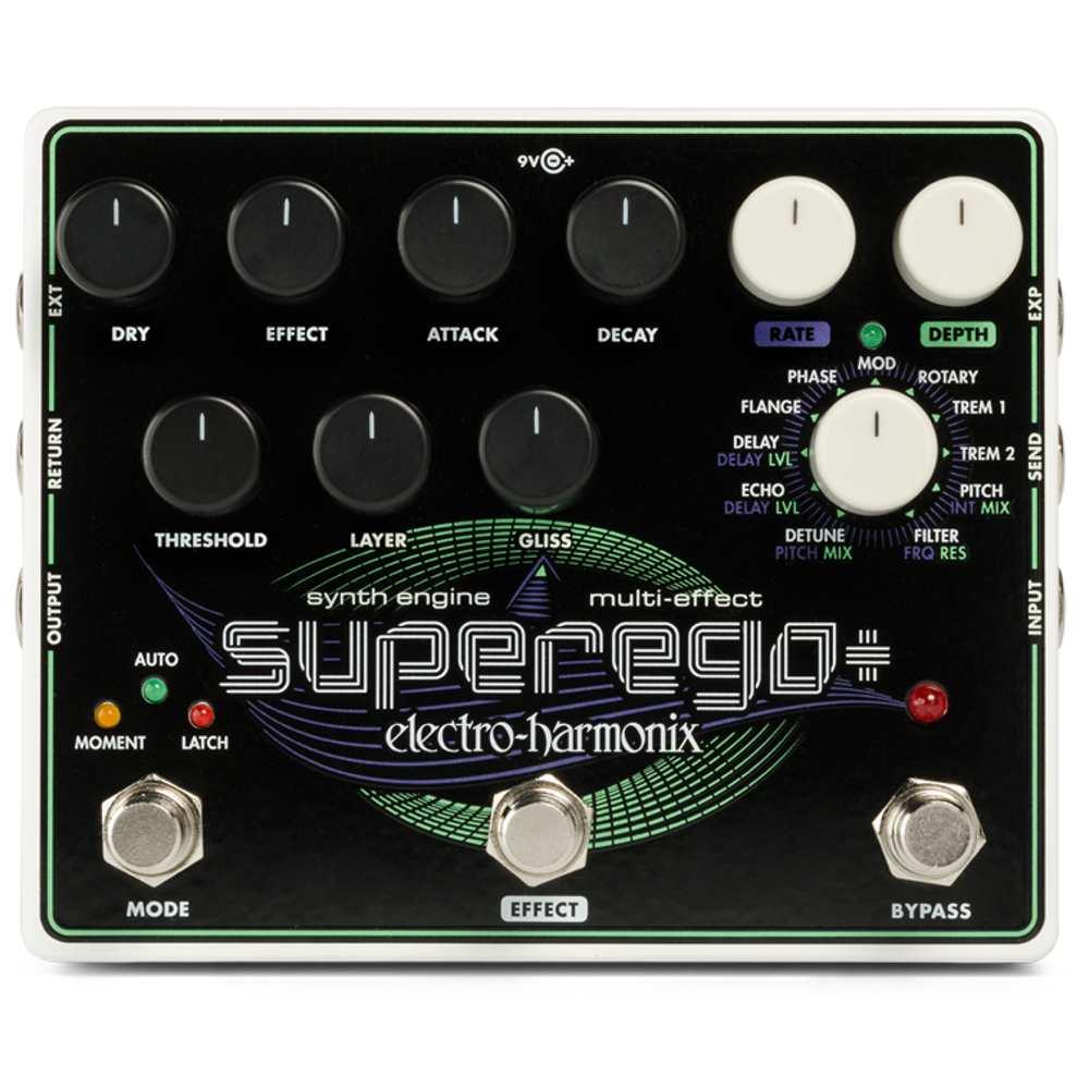 【ポイント5倍】【送料込】【国内正規品】electro-harmonix エレクトロハーモニックス Superego Plus Superego+ Synth Engine Multi Effect シンセエンジン マルチエフェクト【smtb-TK】