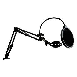 【送料込】ARTRIG MAS-1 クランプ式 マイクアームセット ポップガード ショックマウント付 卓上 フレキシブル マイクスタンド【smtb-TK】