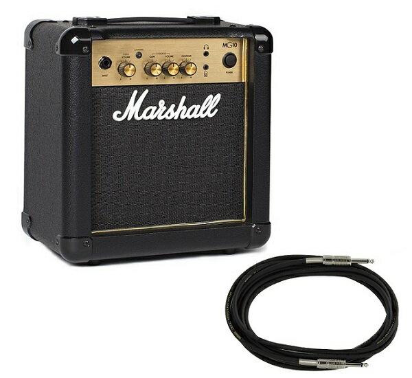 【限定Marshallピック2枚付】【送料込】【YAMAHAシールド/GRC-300BL付】Marshall マーシャル MG10 Gold 正規輸入品【smtb-TK】