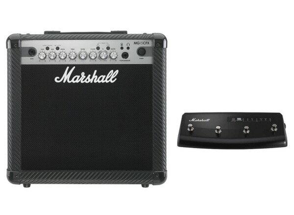【限定Marshallピック2枚付】【送料込】【フットスイッチ付】Marshall MG15CFX マーシャル MG CF(カーボン・ファイバー)シリーズ【smtb-TK】