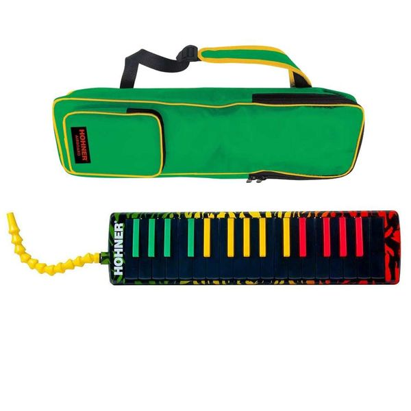 【送料込】【箱汚れアウトレット】HOHNER ホーナー Melodica Airboard Rasta 32 鍵盤ハーモニカ 【smtb-TK】