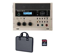 【ポイント6倍】【送料込】【専用ケース/CB-CD2E+SDHCカード/16GB付】Roland ローランド CD-2u SD/CD Recorder SD/CDレコーダー【smtb-TK】