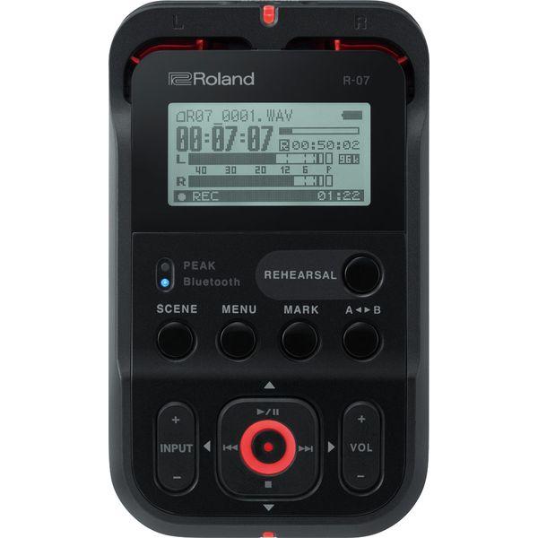 【特典付】【ポイント10倍】【送料込】Roland ローランド R-07/BK ブラック 簡単、確実、高音質、ワイヤレス・リモコンに対応したオーディオ・レコーダー【smtb-TK】
