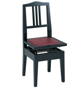 【送料込】甲南 No.6 (本体:黒/座面:エンジ) ピアノイス 背もたれ付高低自在ピアノ椅子 トムソン椅子【smtb-TK】