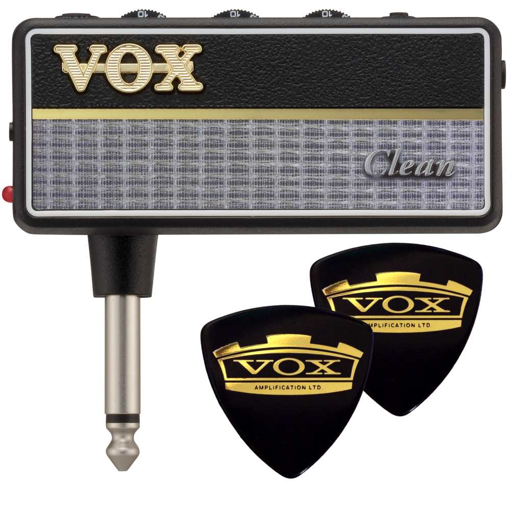 【メール便・送料無料・代引不可】【限定VOXピック2枚付】VOX ヴォックス amPlug2 Clean AP2-CL ファットでクリーンなサウンド ジャズ/フュージョンに最適 アンプラグ ヘッドホンギターアンプ【smtb-TK】