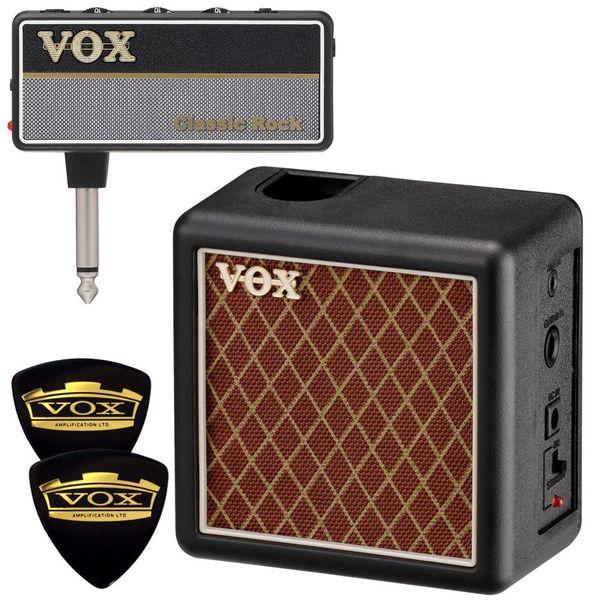 【限定VOXピック2枚付】【送料込】VOX ヴォックス AP2-CR + AP2-CAB amPlug2 Classic Rock + 専用キャビネット/ミニアンプ【smtb-TK】