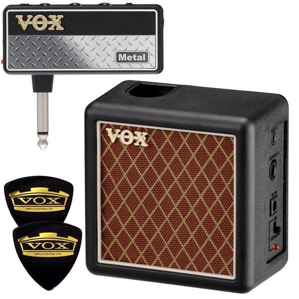 【限定VOXピック2枚付】【送料込】VOX ヴォックス AP2-MT + AP2-CAB amPlug2 Metal + 専用キャビネット/ミニアンプ【smtb-TK】
