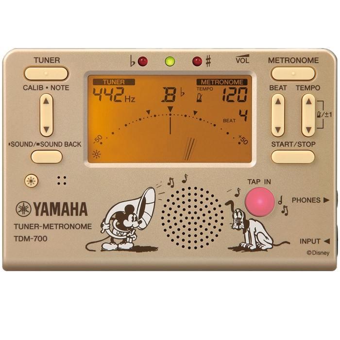 【ポイント5倍】【メール便・送料無料・代引不可】【限定モデル】YAMAHA ヤマハ TDM-700DMK ミッキーマウス チューナー/メトロノーム 【smtb-TK】