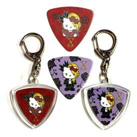 【メール便・送料無料・代引不可】GROVER ALLMAN Yoshikitty Red / Purple ピック 各2枚計4枚+ハメパチ2個 セット Yoshiki X JAPAN【smtb-TK】