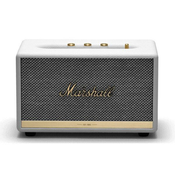 【ポイント10倍】【送料込】【国内正規品】Marshall マーシャル ZMS-1001901 Acton II Bluetooth White Bluetooth5.0 搭載 コンパクト オーディオ スピーカー 【smtb-TK】