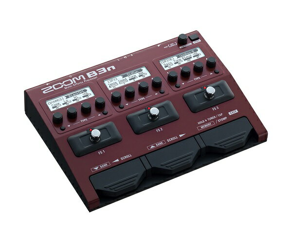 【ポイント10倍】【限定ZOOMピック2枚付】【送料込】【ACアダプター付属】ZOOM ズーム B3n B3next Multi-Effects Processor for Bass【smtb-TK】