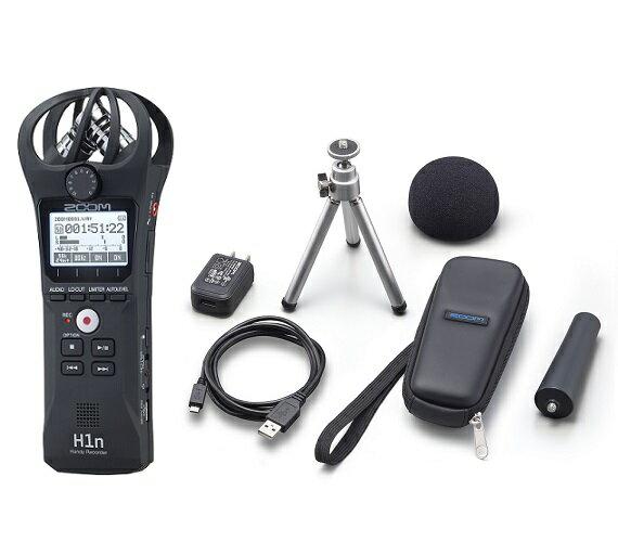 【ポイント5倍】【送料込】【アクセサリパッケージ/APH-1n付】ZOOM ズーム H1n シンプル操作の高音質レコーダー【smtb-TK】