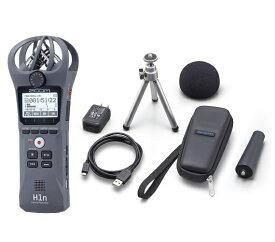 【送料込】【アクセサリパッケージ/APH-1n付】ZOOM ズーム H1n/G グレー シンプル操作の高音質レコーダー【smtb-TK】