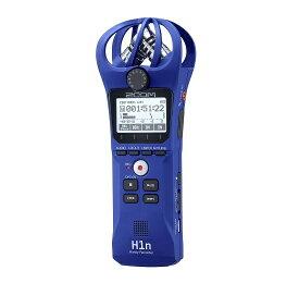 【ポイント5倍】【送料込】ZOOM ズーム H1n/L ブルー シンプル操作の高音質レコーダー【smtb-TK】