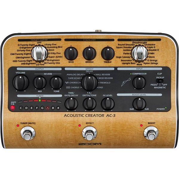 【予告:5/25(金)10時〜エントリー&楽天カード決済でP最大9倍!!】【ポイント6倍】【限定ZOOMピック2枚付】【送料込】【ACアダプター付属】ZOOM AC-3 Acoustic Creator【smtb-TK】