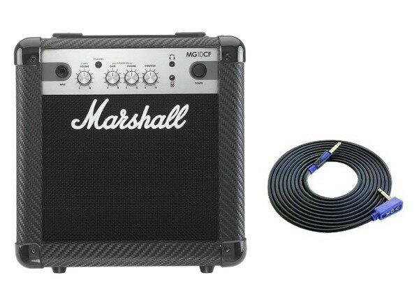 【限定Marshallピック2枚付】【送料込】【VOXシールド付】Marshall MG10CF マーシャル MG CF(カーボン・ファイバー)シリーズ【smtb-TK】