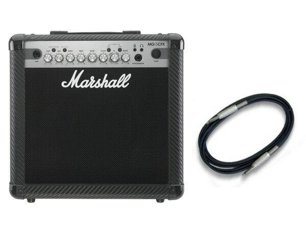 【限定Marshallピック2枚付】【送料込】【CANAREシールド付】Marshall MG15CFX マーシャル MG CF(カーボン・ファイバー)シリーズ【smtb-TK】