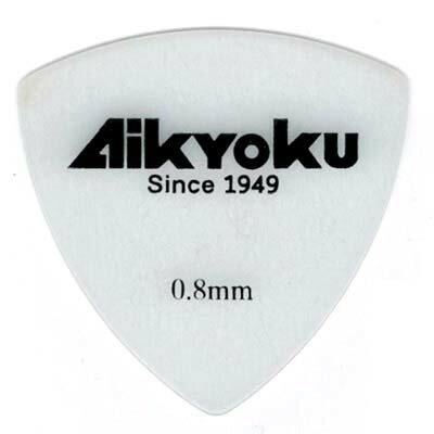 【10枚セット】愛曲楽器 オリジナルピック おにぎり型 ポリアセタール 白 0.8mm