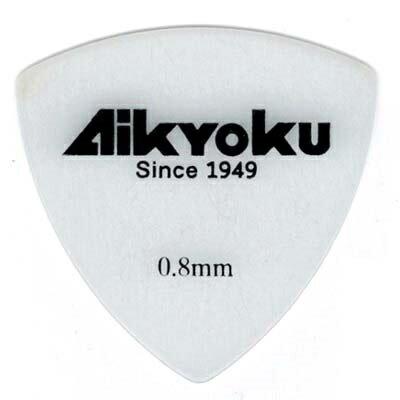【100枚セット】愛曲楽器 オリジナルピック おにぎり型 ポリアセタール 白 0.8mm