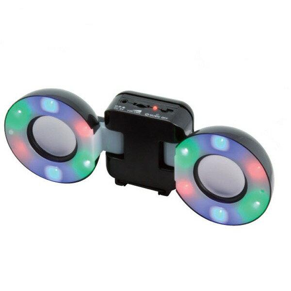 【ポイント2倍】【処分特価】MINISTAR/ミニスター Mini Speaker/BK(黒) ポータブルスピーカー 電池駆動/USB電源