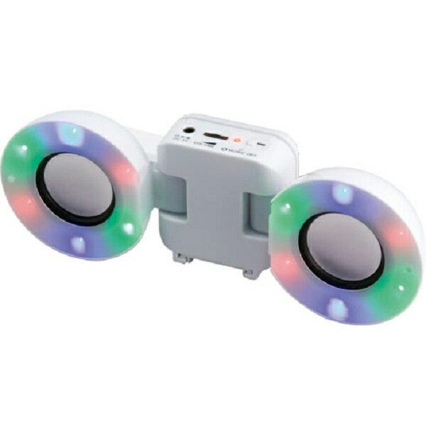 【ポイント2倍】【処分特価】MINISTAR/ミニスター Mini Speaker/WH(白) ポータブルスピーカー 電池駆動/USB電源