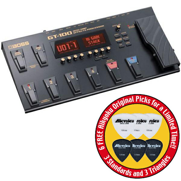【ポイント10倍】【愛曲楽器オリジナルピック6枚付】【送料込】BOSS/ボス GT-100 Version2.0 COSM Amp Effects ProcessorBOSSフロア・マルチ・シリーズ/フラッグシップ・モデル【smtb-TK】