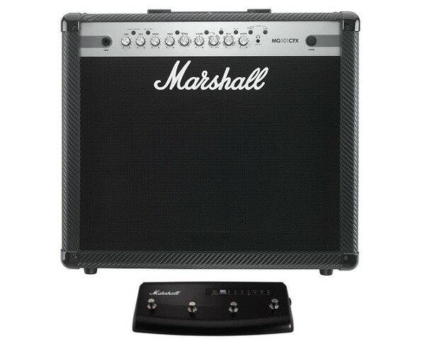 【限定Marshallピック2枚付】【送料込】【4Wayフットスイッチ/PEDL90008付】Marshall/マーシャル MG101CFX /MG CF(カーボン・ファイバー)シリーズ【smtb-TK】