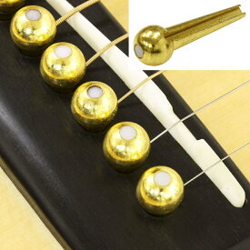 【メール便・送料無料・代引不可】D'Andrea/ダンドレア TONE PINS TP4T Pearl Dot ソリッドブラス製ブリッジピン【smtb-TK】