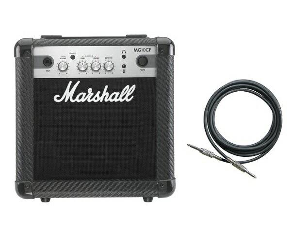 【限定Marshallピック2枚付】【送料込】【シールド付】Marshall MG10CF マーシャル MG CF(カーボン・ファイバー)シリーズ【smtb-TK】