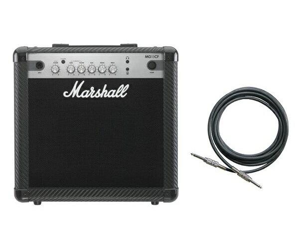 【限定Marshallピック2枚付】【送料込】【シールド付】Marshall MG15CF マーシャル MG CF(カーボン・ファイバー)シリーズ【smtb-TK】