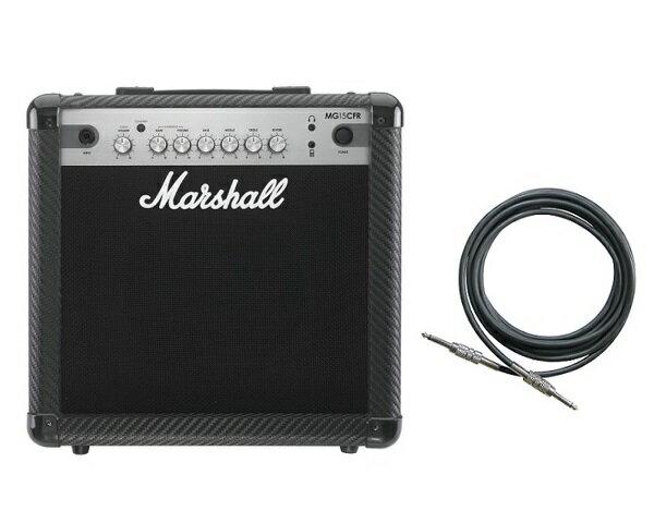 【限定Marshallピック2枚付】【送料込】【シールド付】Marshall MG15CFR マーシャル MG CF(カーボン・ファイバー)シリーズ【smtb-TK】
