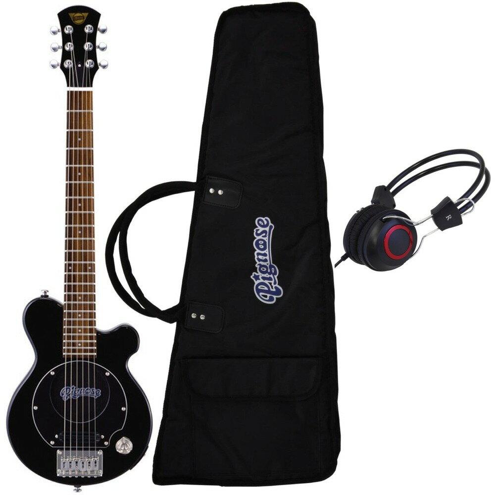 【ポイント8倍】【送料込】【ヘッドホン付】Pignose ピグノーズ PGG-200 BK アンプ内蔵ギター【smtb-TK】