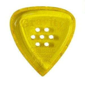 【ポイント5倍】【メール便・送料無料・代引不可】【3枚セット】GRAVITY GUITAR PICKS GCPB4PM Classic Pointed -Big Mini- [4.0mm with Multi-Hole/Yellow] アクリル ピック【smtb-TK】